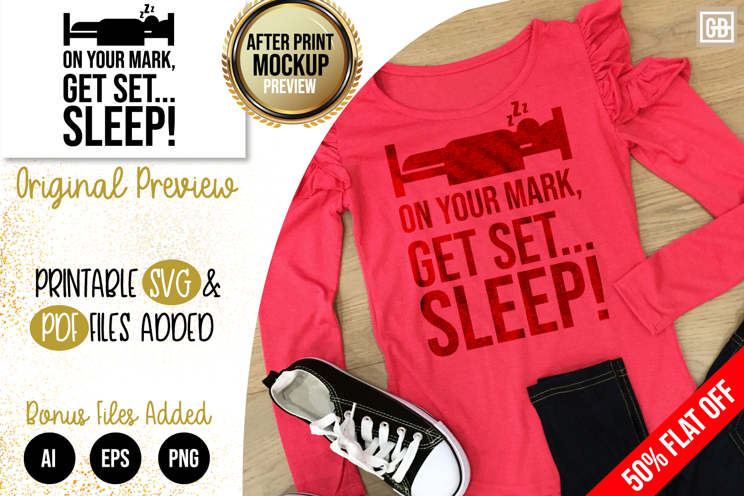 Get Set Sleep Sayings, Funny Quote SVG, AI, EPS, PNG, PDF example image 1