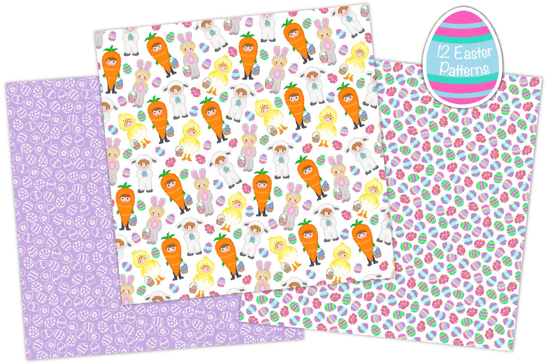 easter digital paper, Easter patterns, easter - P36 example image 2