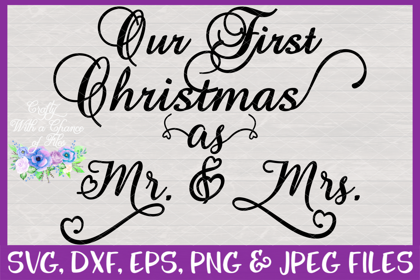 Our First Christmas as Mr & Mrs SVG - Ornament Design example image 3