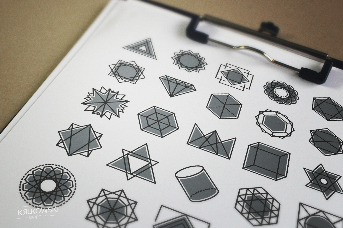 Geometric Icons Set example image 5