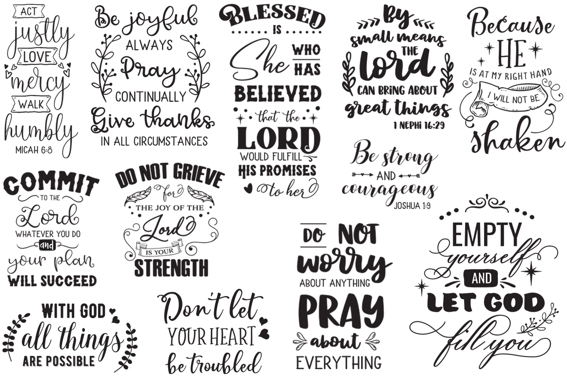 The Religious Pack - 50 Cutting Files SVG DXF EPS PNG example image 2