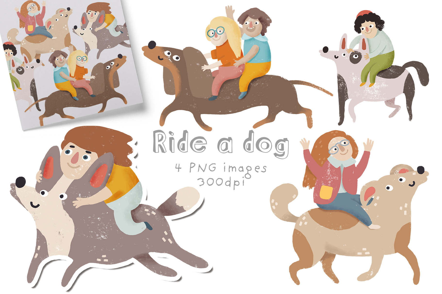 How to ride a dog example image 1