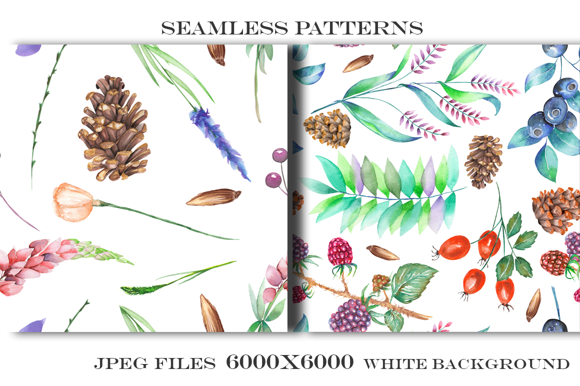 Forest and lavender Patterns example image 5