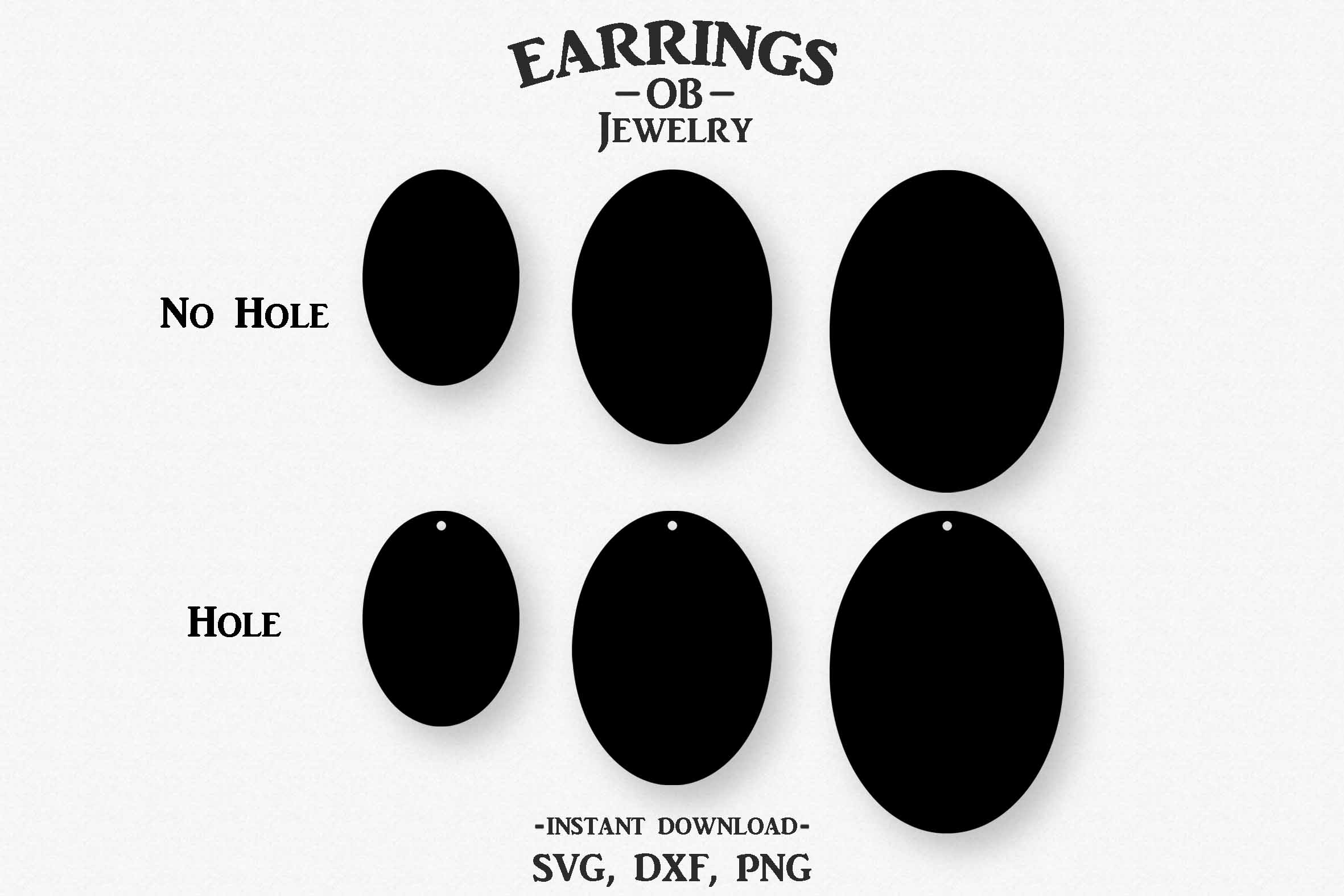 Earring Svg, Teardrop, Stacked, Cut File example image 2