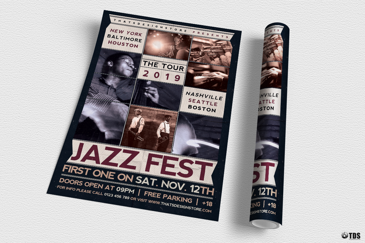 Jazz Fest Flyer Template example image 3