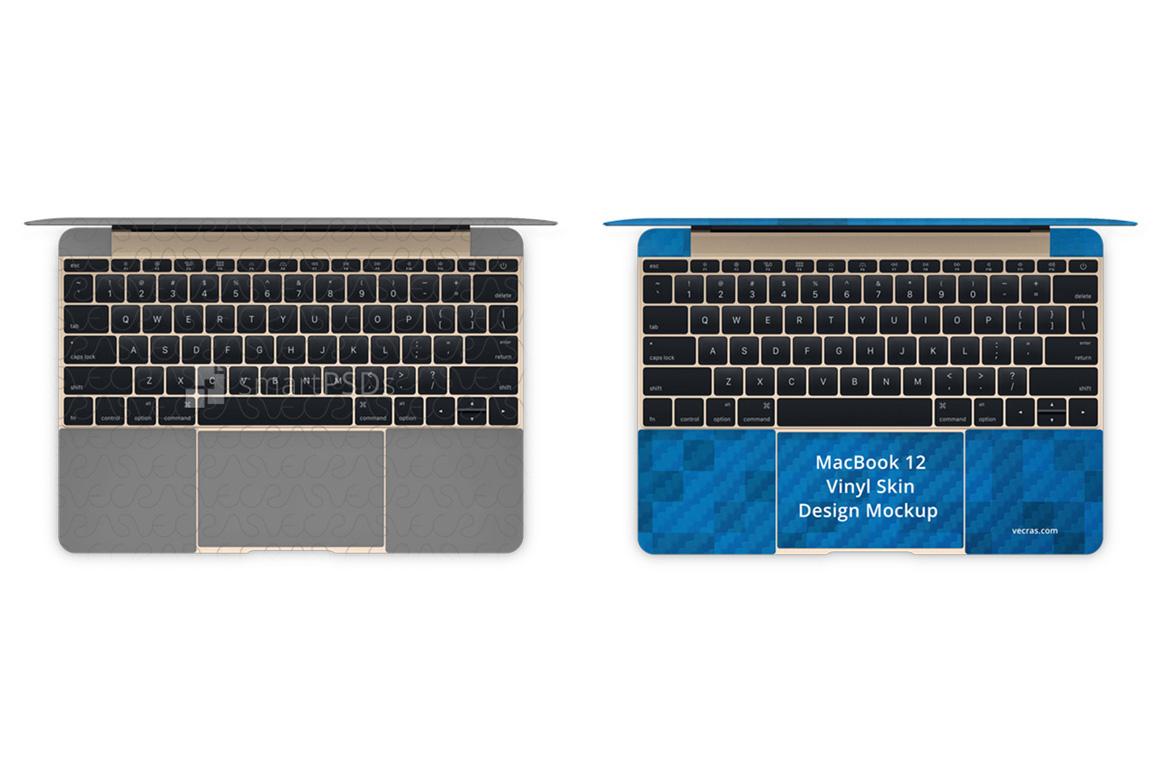 Apple MacBook 12-inch Vinyl Skin Design Mockup 2017 example image 2