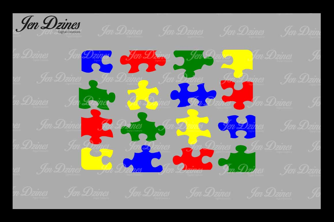 Puzzle SVG DXF EPS PNG example image 2
