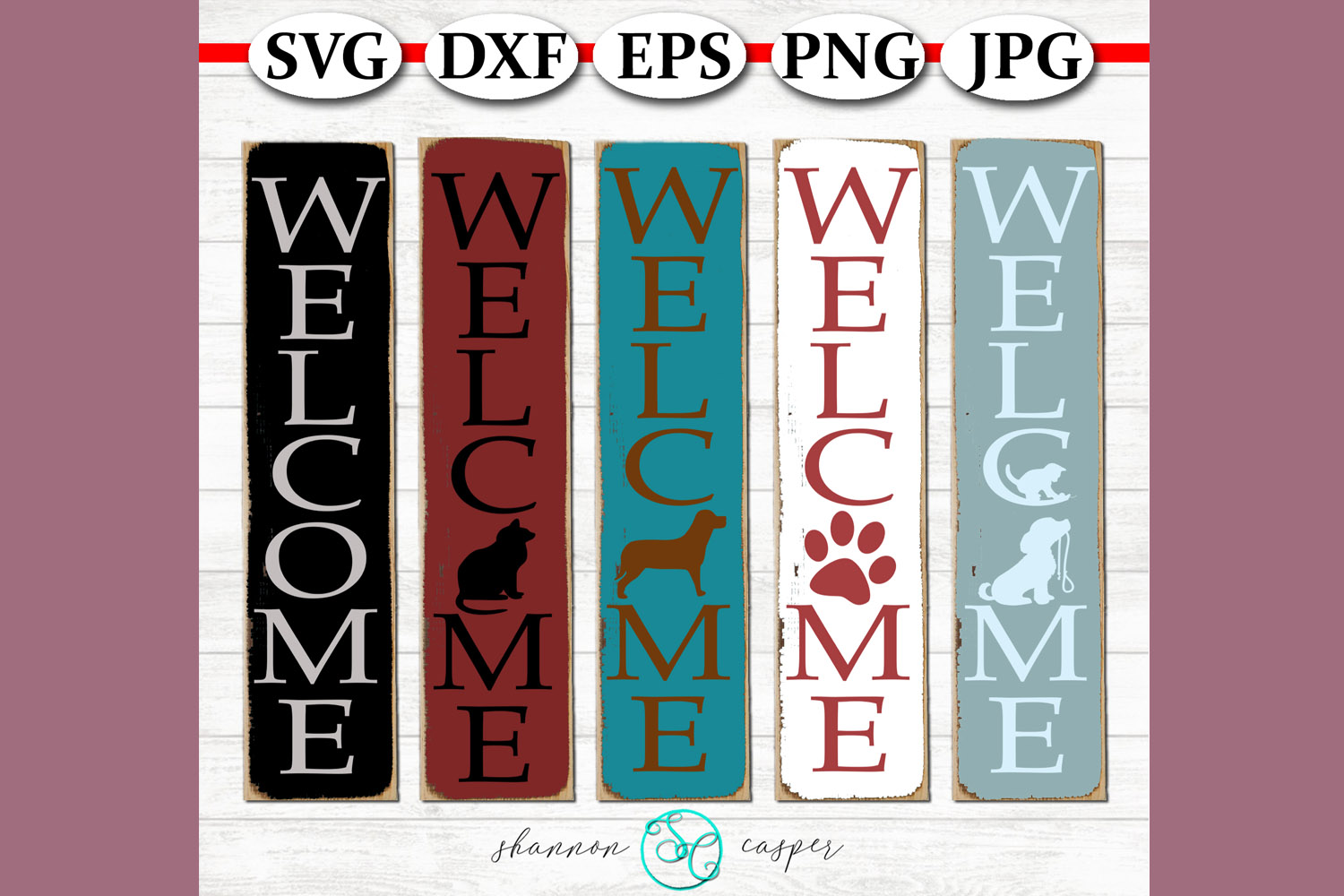 Pet Lovers Welcome Porch SVG Files example image 1