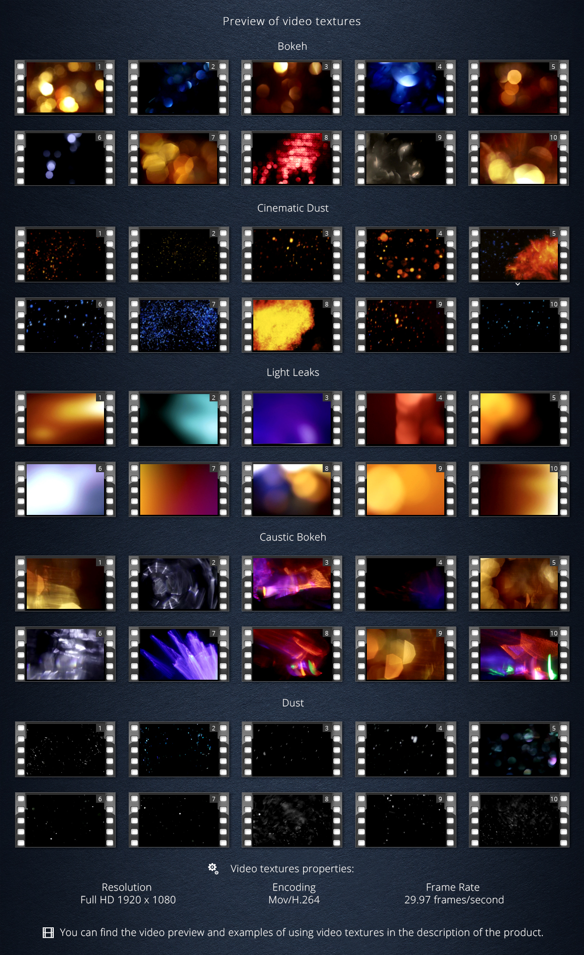 Cinematic Pack of Video Textures example image 5