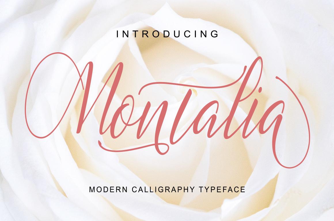 Montalia Script example image 1