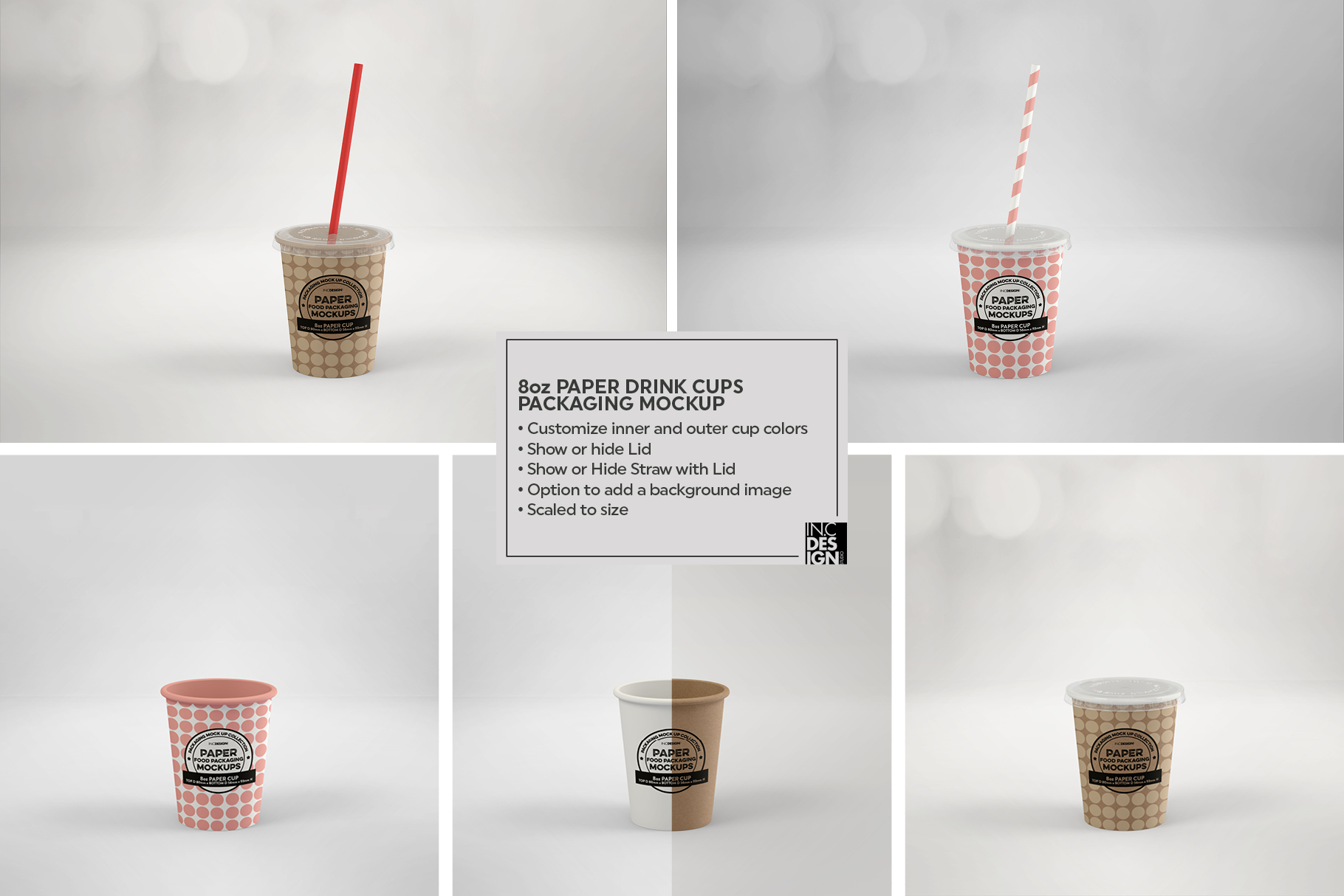 Paper Drink Cups Packaging Mockup example image 8