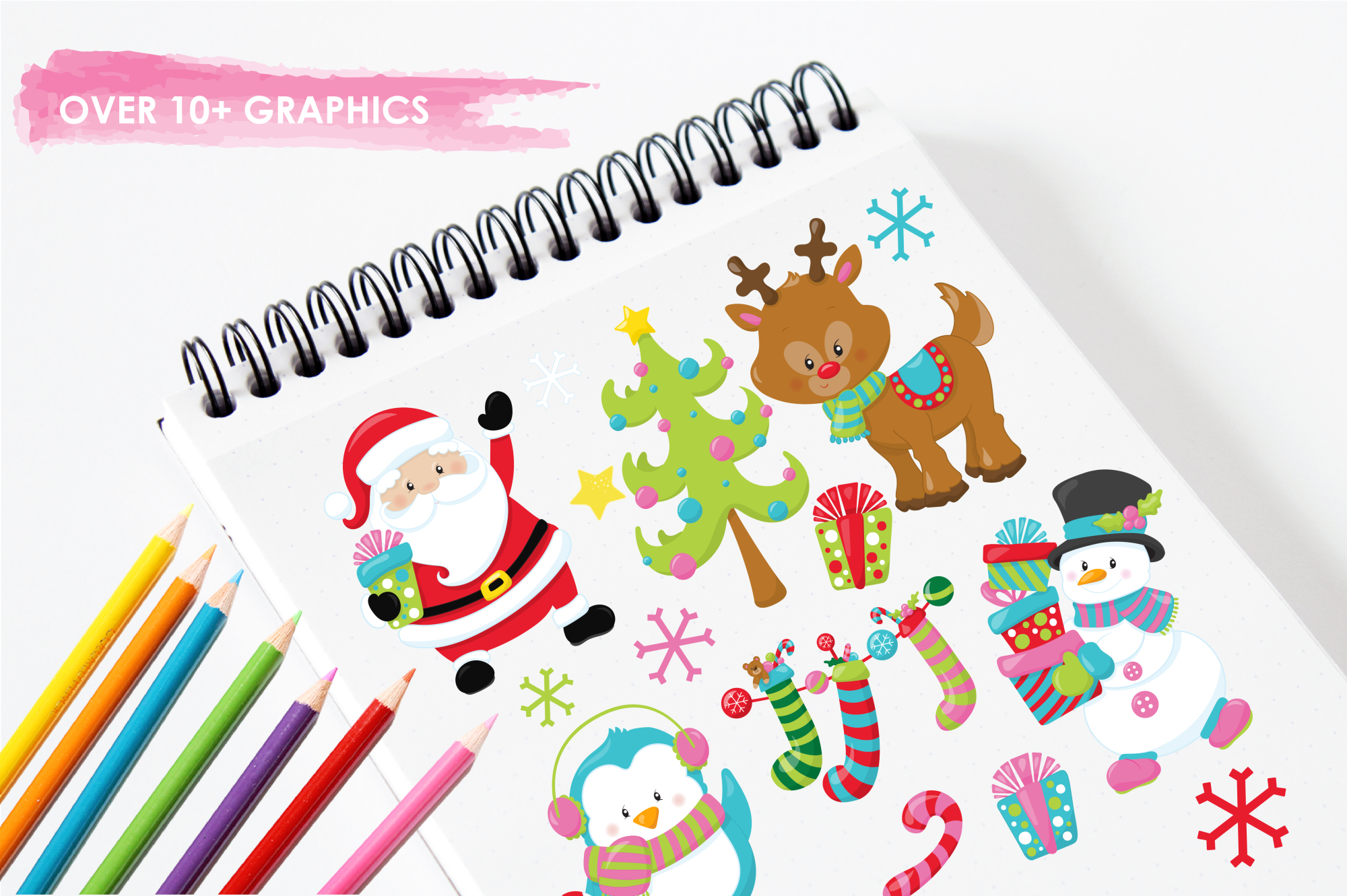 Christmas Friends graphics and illustrations example image 3