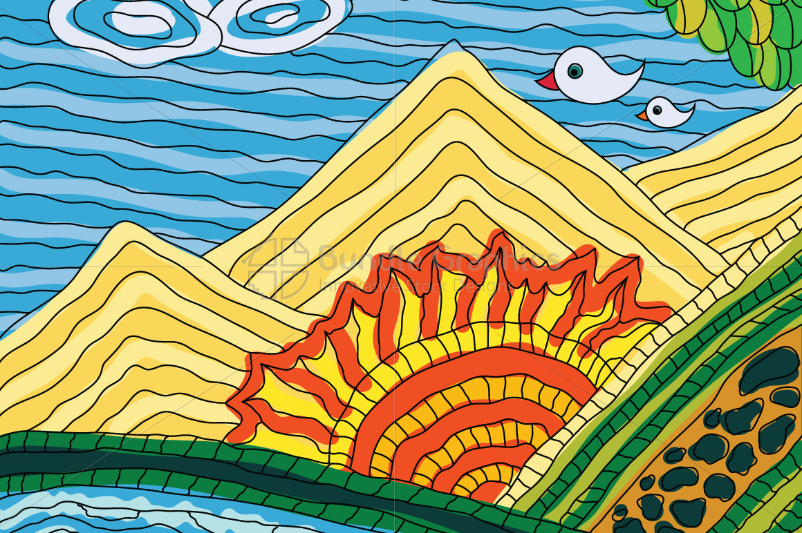 Sun Rise - Illustrative Background example image 1