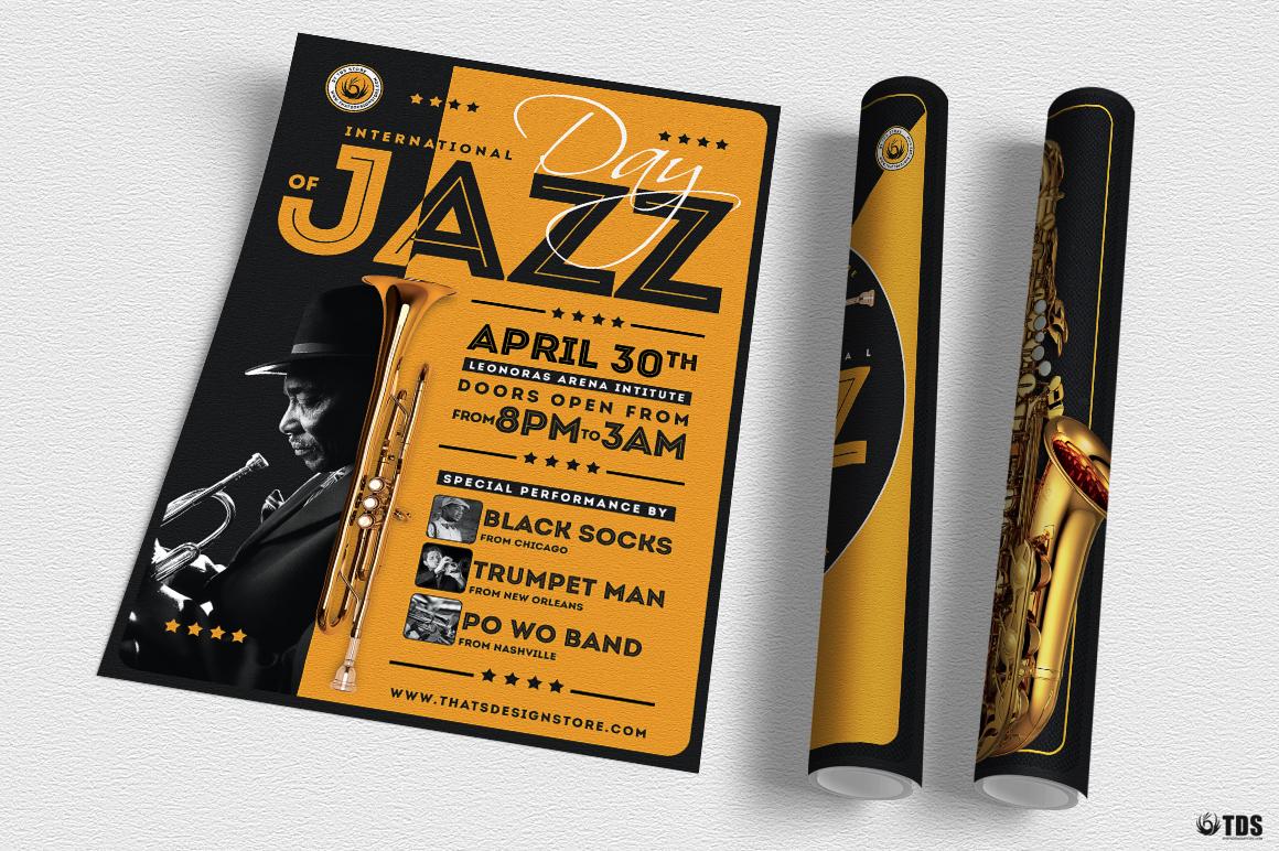 Jazz Day Flyer Bundle example image 3