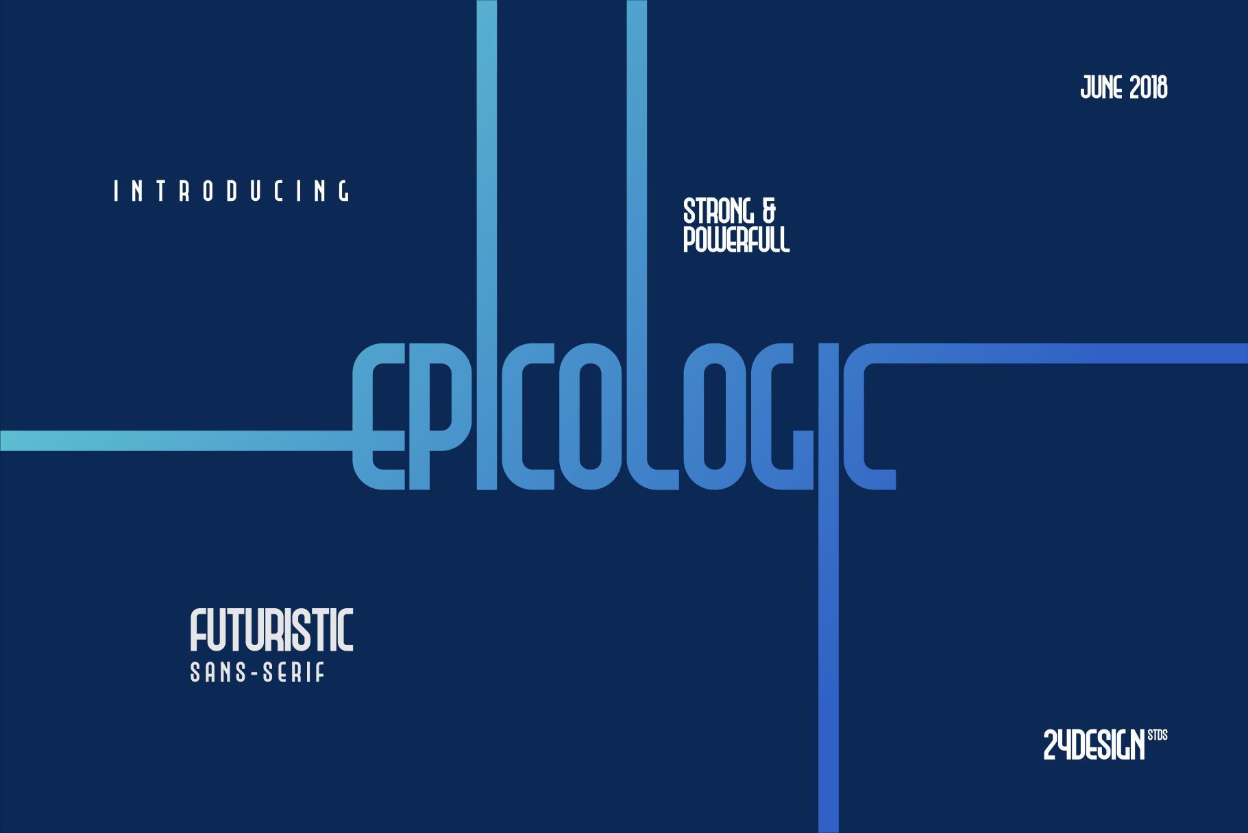 Epicologic Fonts 4 Style example image 1