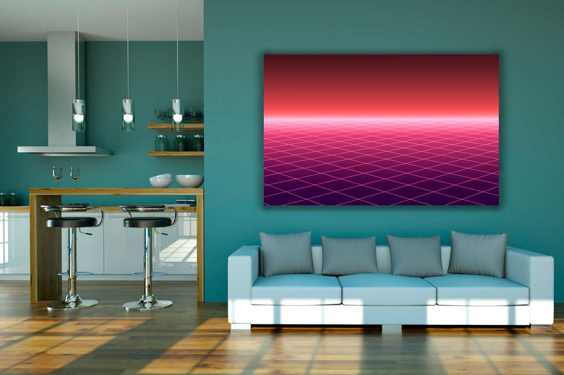 Bright futuristic glowing background example image 3