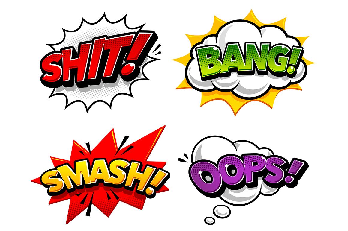 Comic Speech Bubbles example image 5