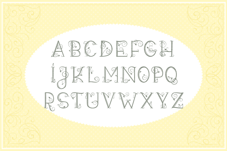 Leafy Monogram Font & Alphabet example image 2