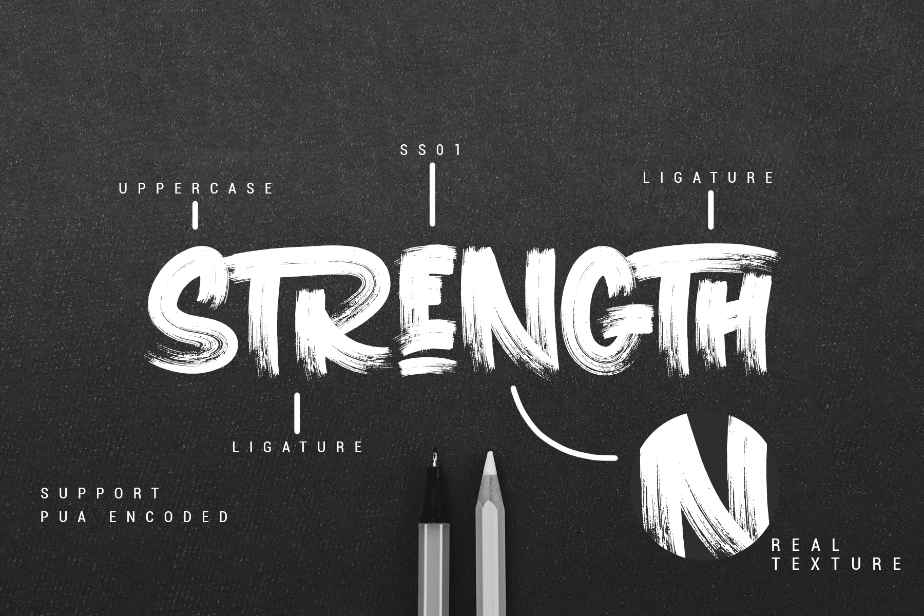 RELEASE THE STRENGTH // WILD TYPEFACE example image 2