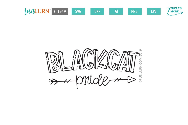 Blackcat Pride Team SVG Cut File example image 2