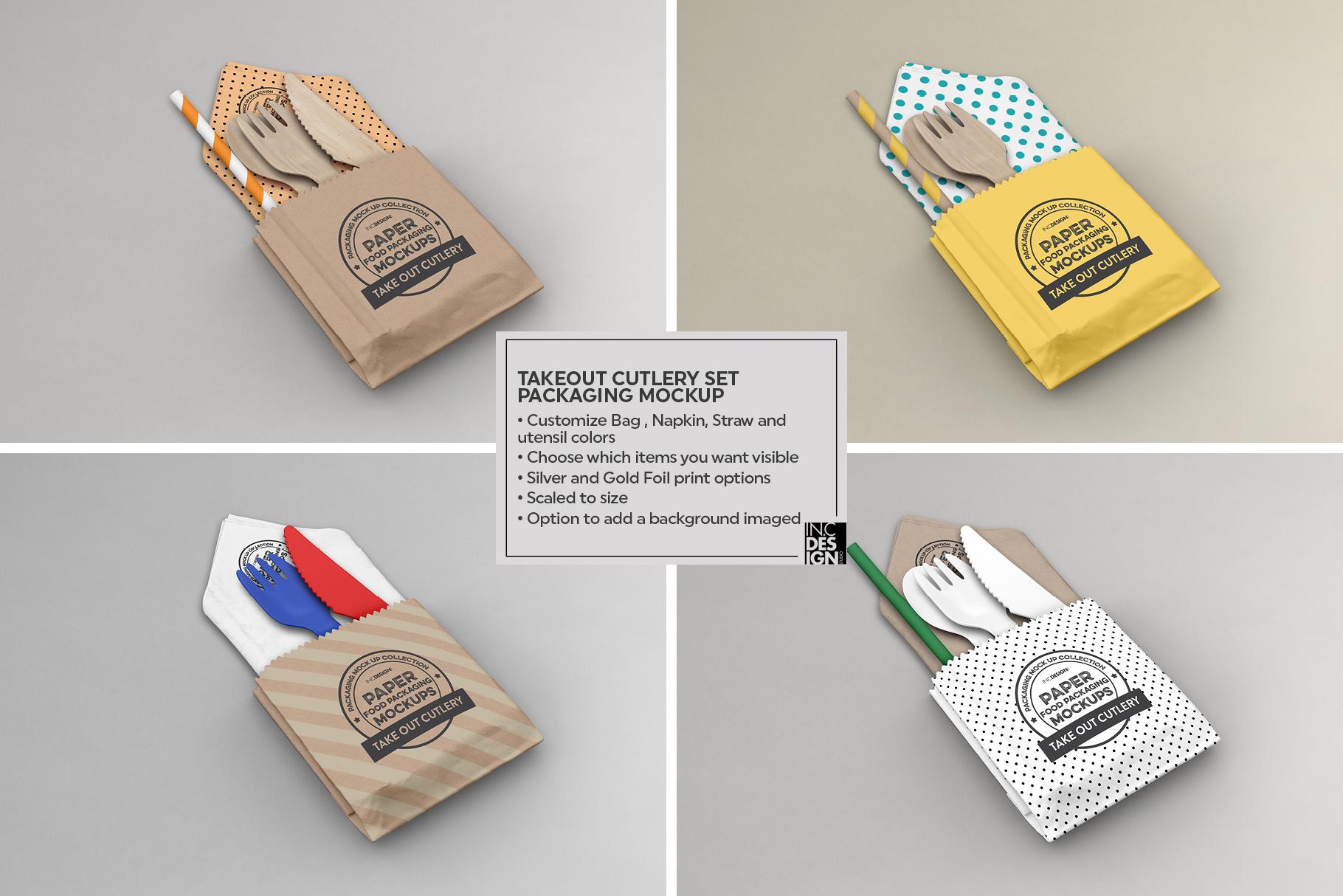 VOL.15 Food Box Packaging MockUps example image 3