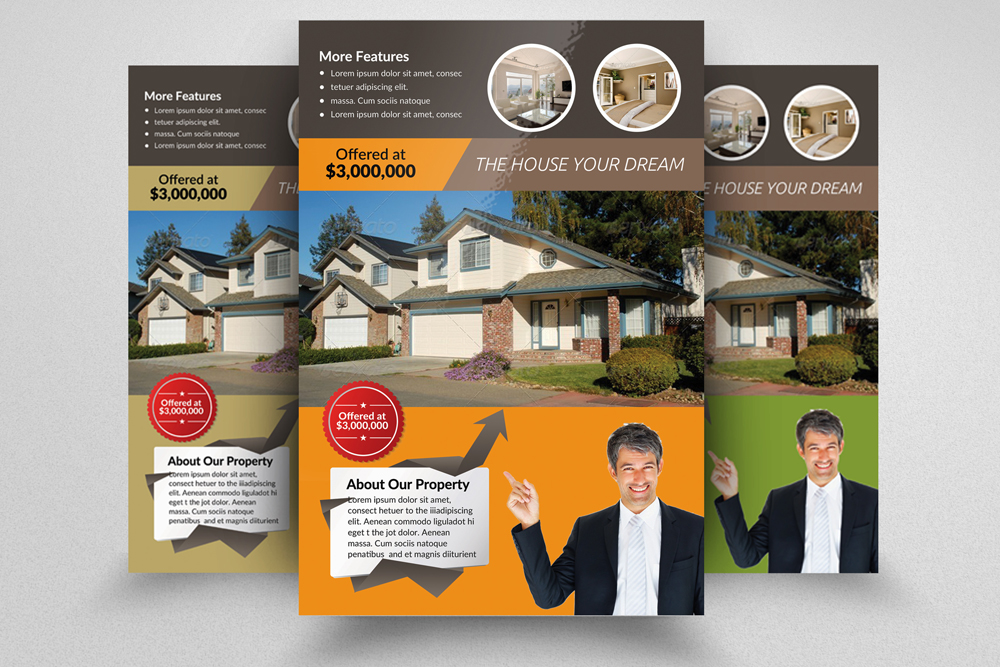6 Real Estate Business Flyers Bundle example image 6