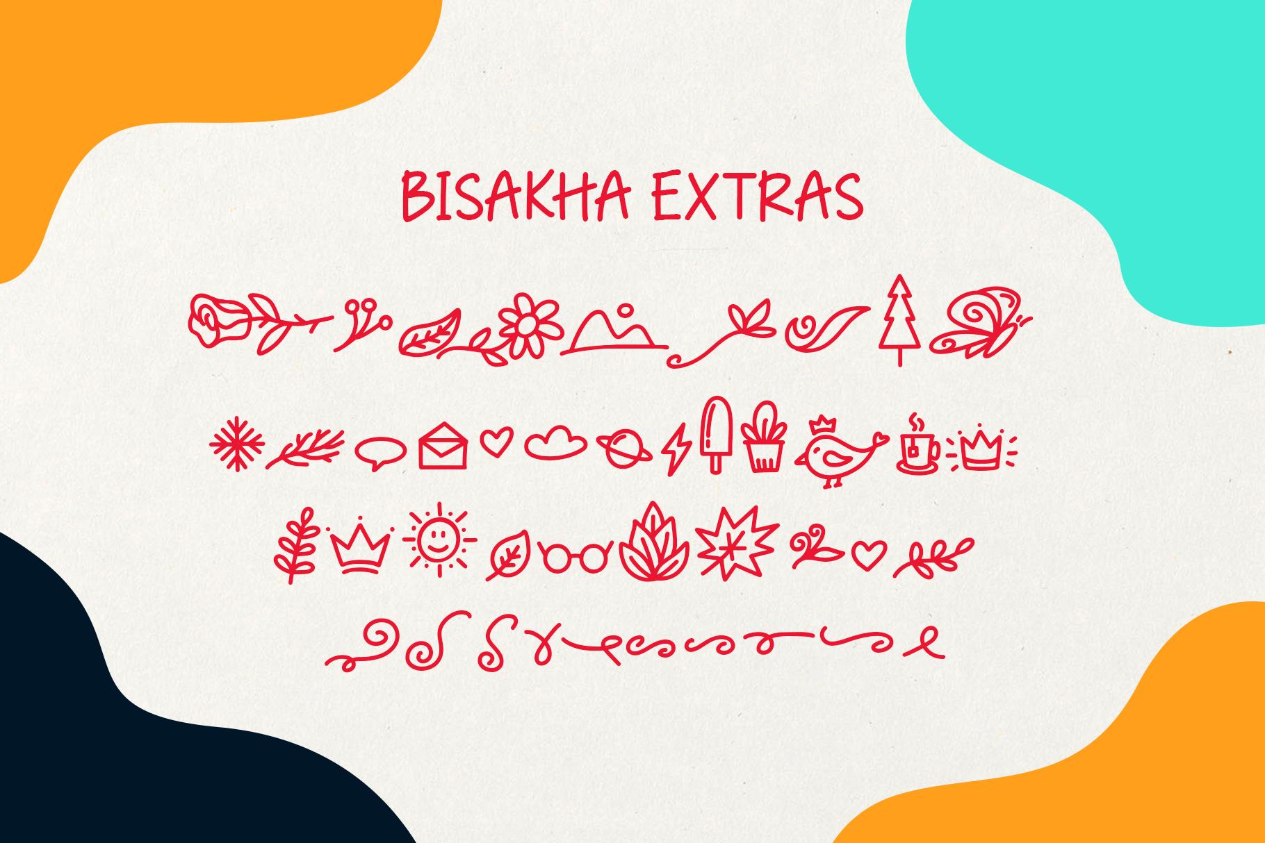 Bisakha - Fun Handwritten Typeface example image 8