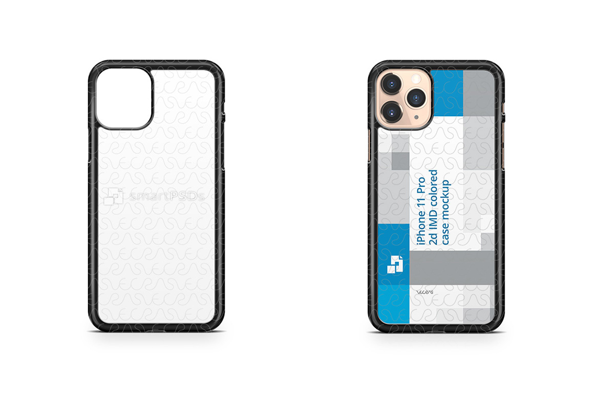iPhone 11 Pro 2019 2d PC Colored Case Design Mockup example image 1