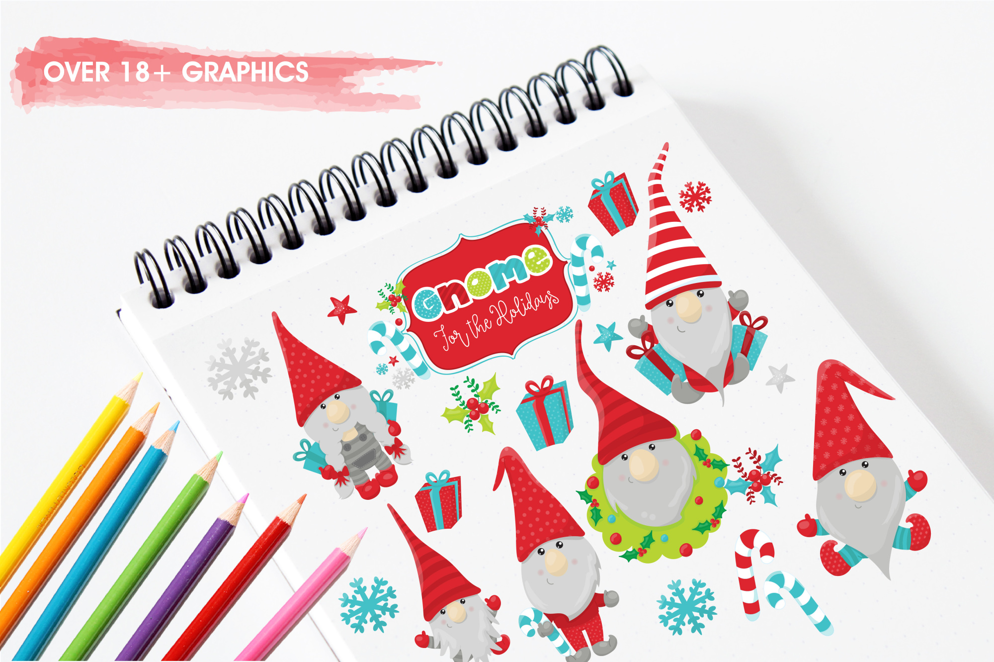 Holiday Gnomes graphics and illustrations example image 3