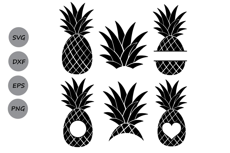 Download Pineapple SVG, Pineapple Monogram Frames, Silhouette SVG ...