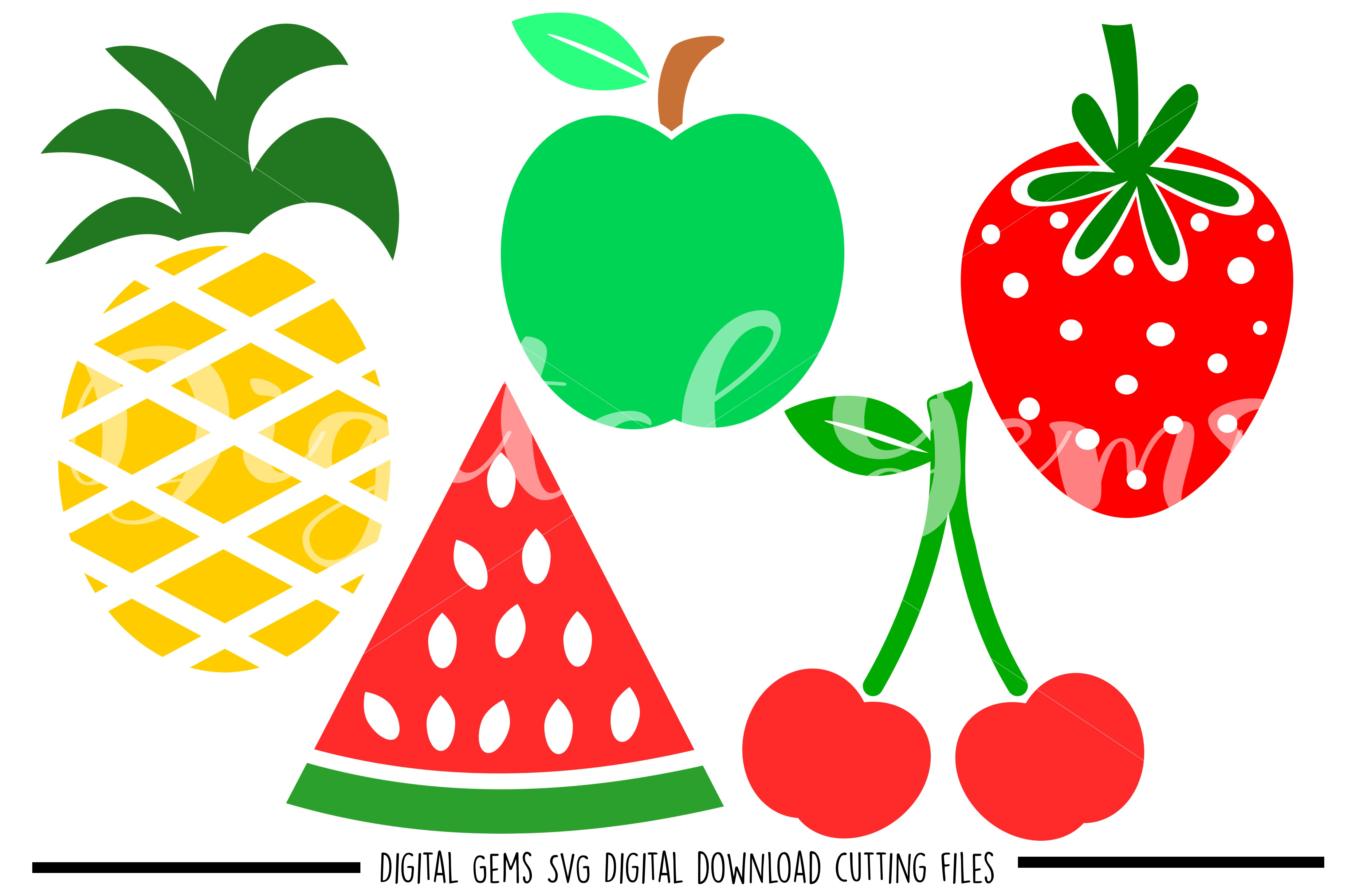 Fruit SVG / DXF / EPS / PNG files example image 1