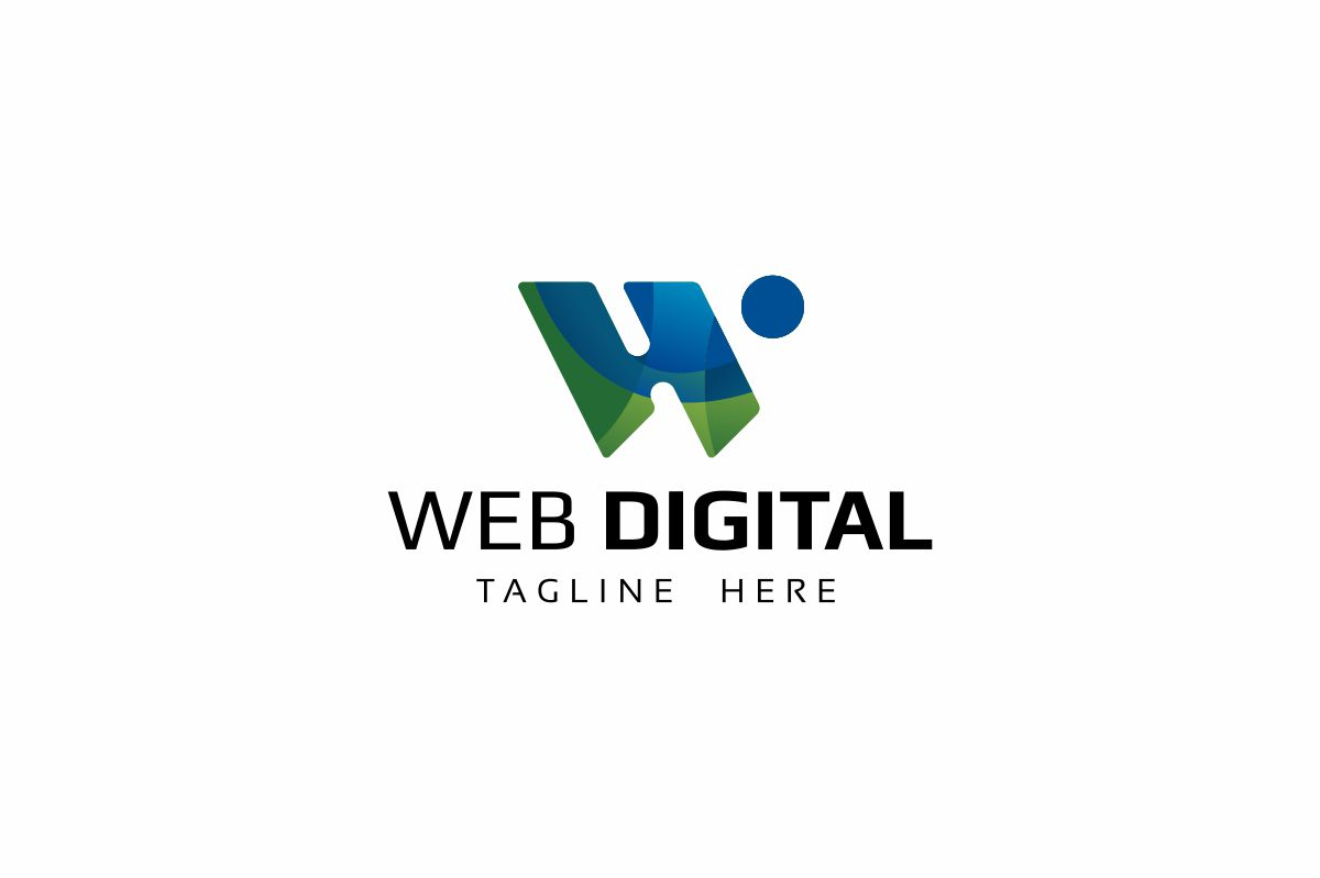 Web Digital W Letter Logo example image 1