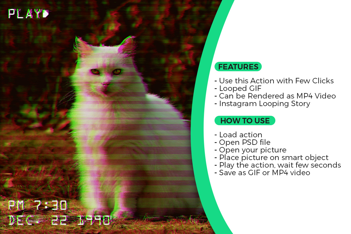 Animated VHS Effect Action example image 2