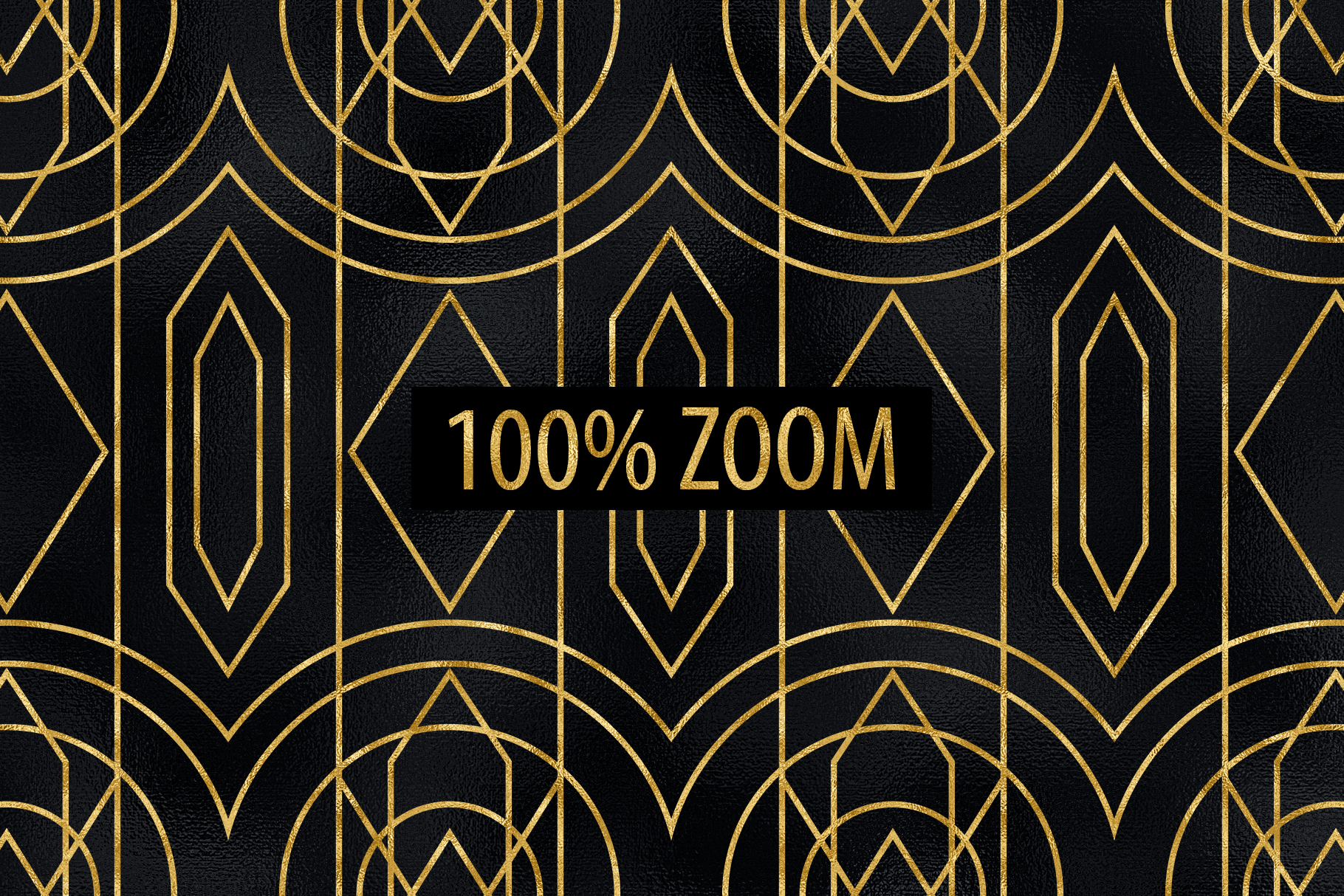 Seamless Art Deco Patterns - Black and Gold Digital Papers example image 16