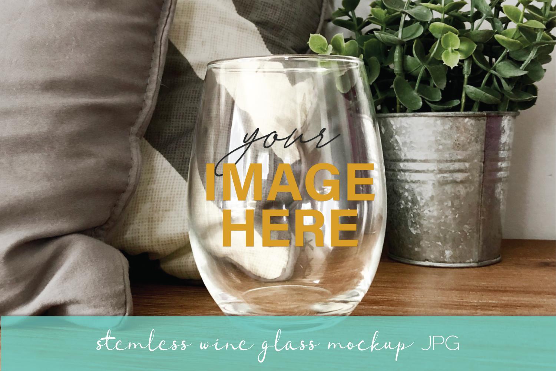 Mockup Bundle - Wineglass - Wood Sign - Pillow PSD JPG example image 3