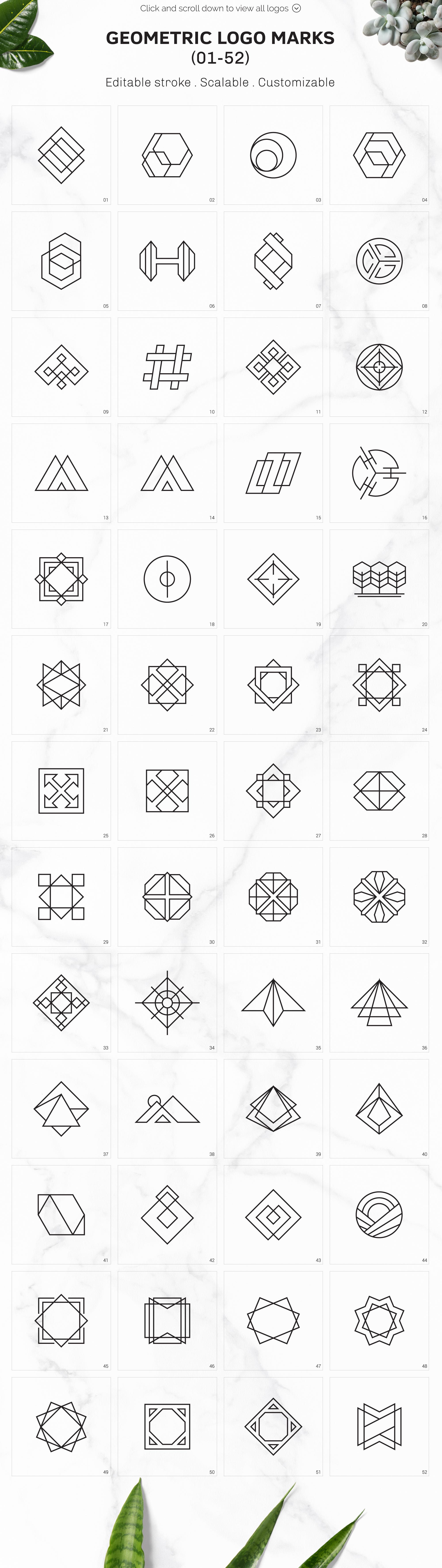 300 Geometric Premade Logo Bundle example image 7