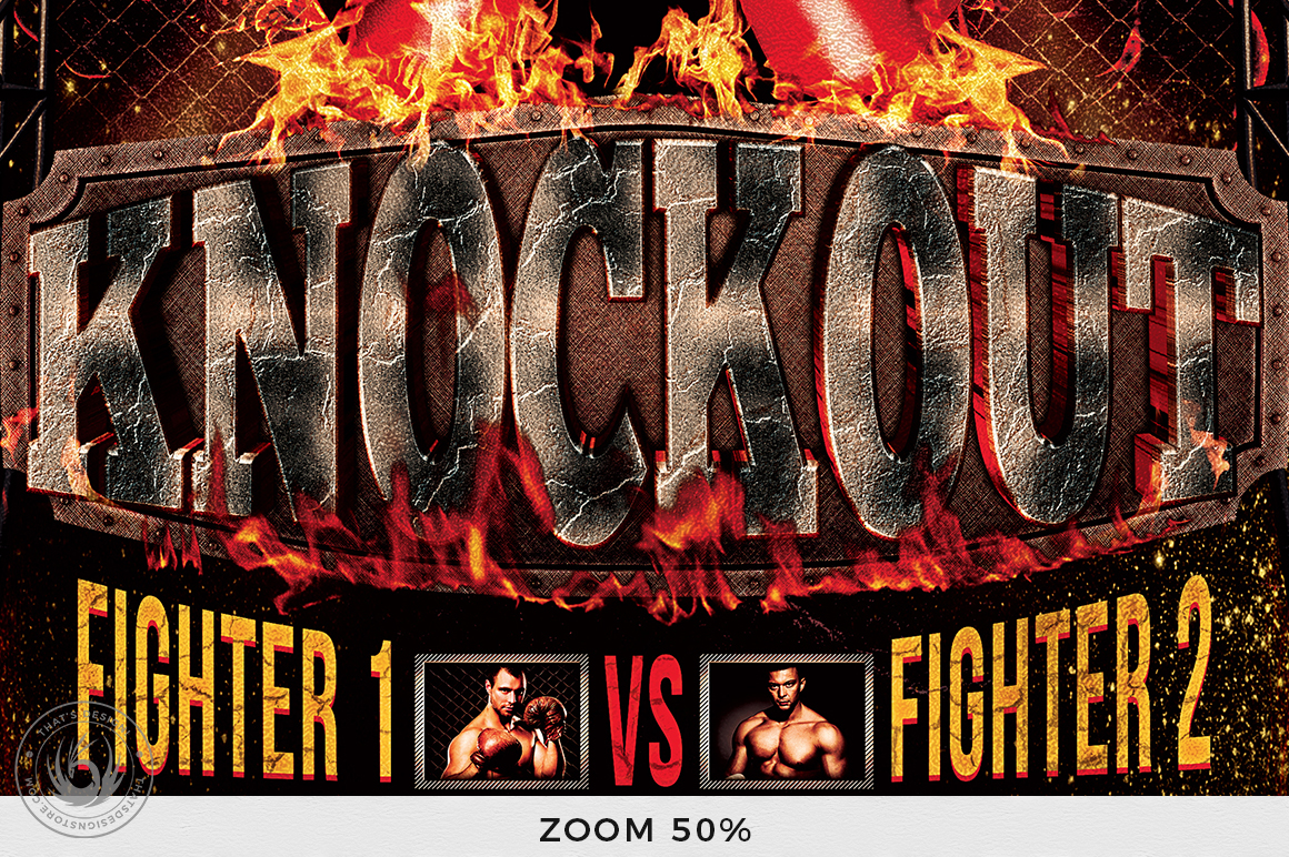 Fight Night Flyer Template V2 example image 8