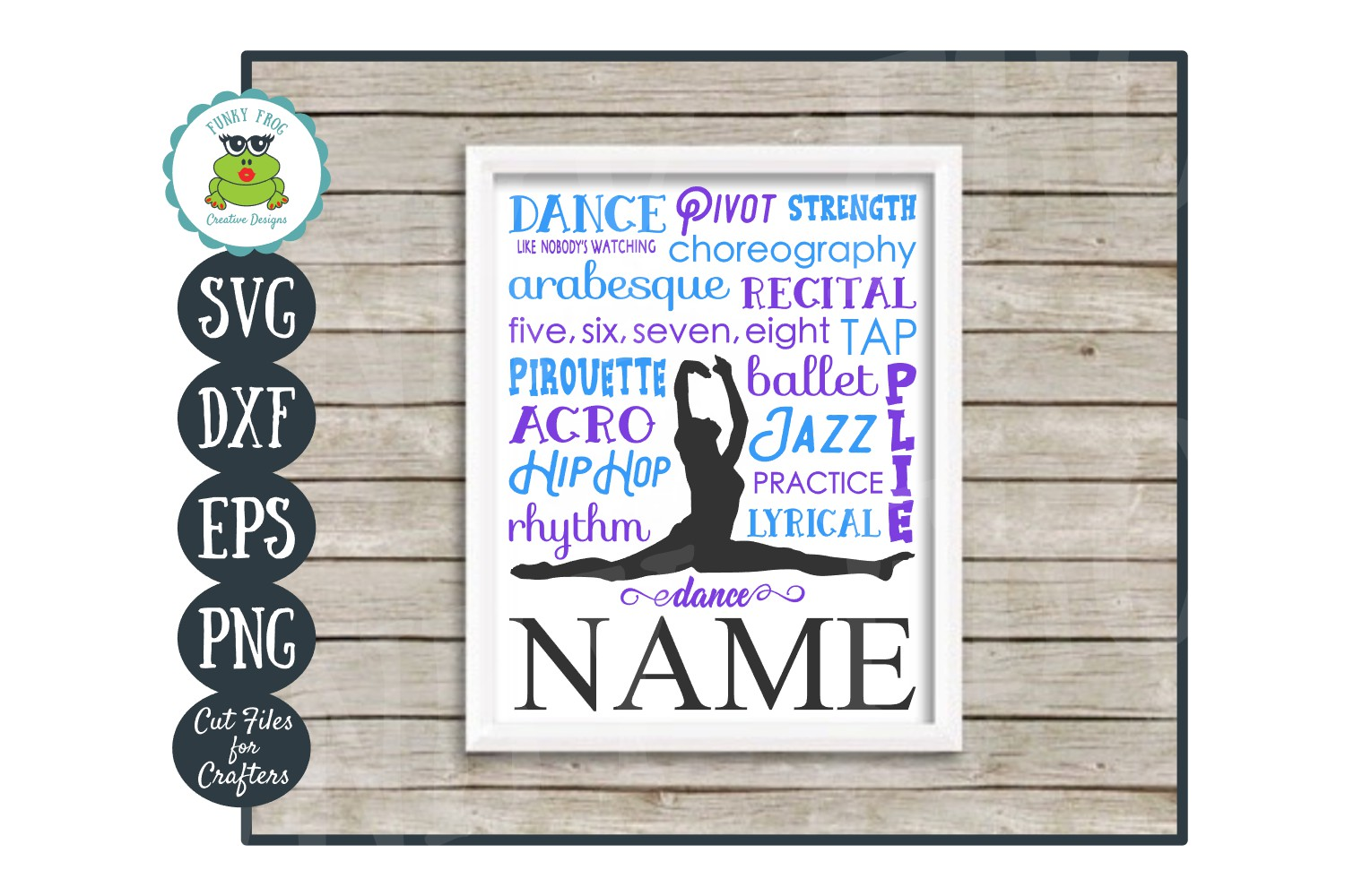 Dance Subway Art SVG Cut File, PNG Printable Wall Art example image 1