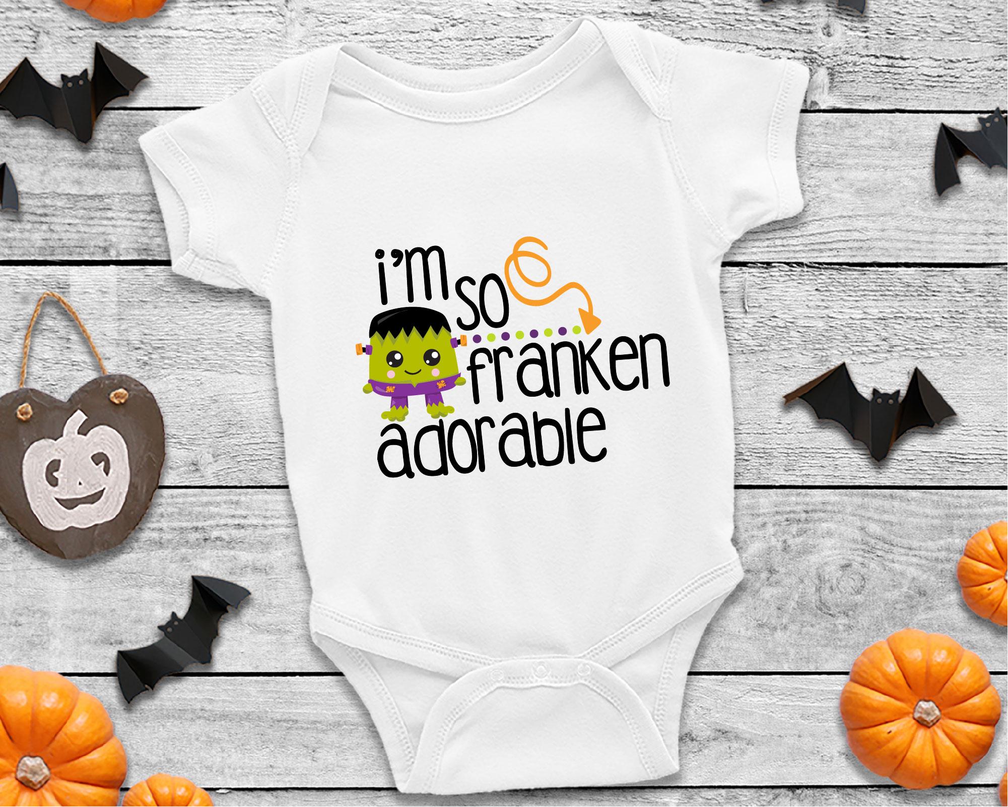I'm So Franken Adorable SVG Sublimation, Halloween Monster example image 2