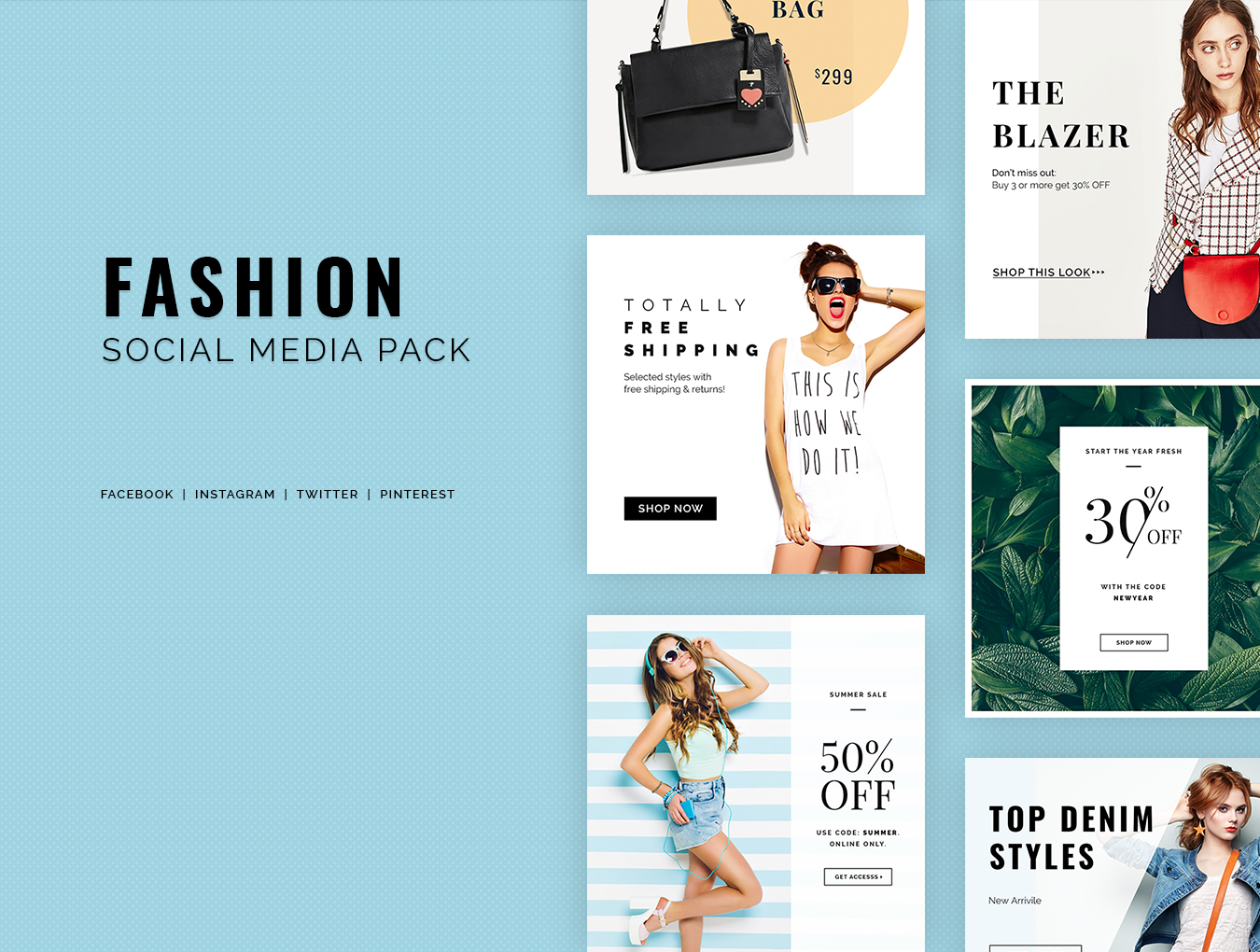 Fashion Social Media Pack example image 1