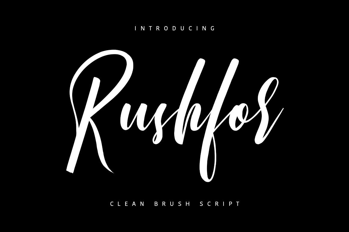 Rushfor - Clean Brush Script example image 1