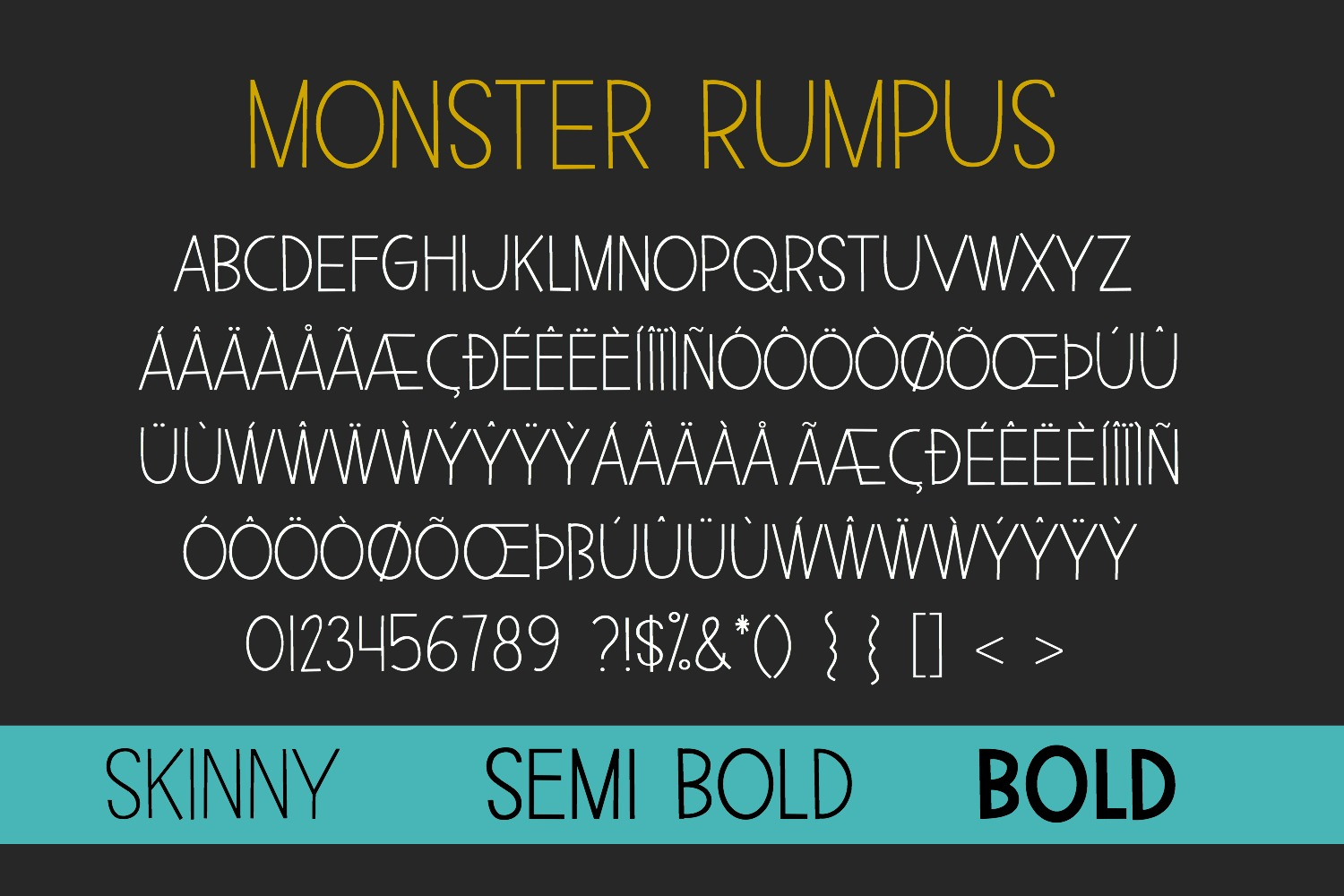 Monster Rumpus Font Family example image 3