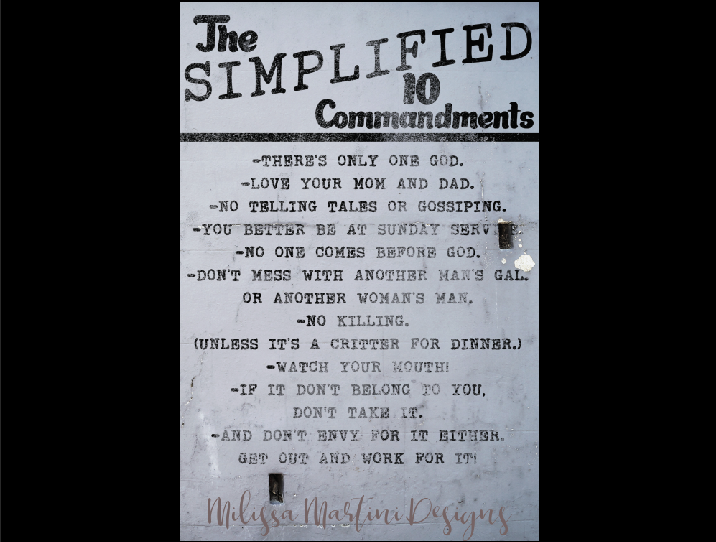 Simplified 10 Commandments example image 2