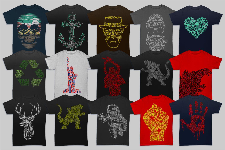 Tshirt Designs Mega Bundle Pack 1 + Pack 2 example image 2