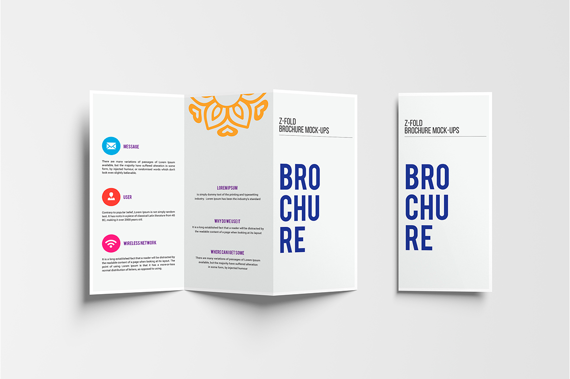 A4 Z-Fold Brochure Mock-Up example image 9