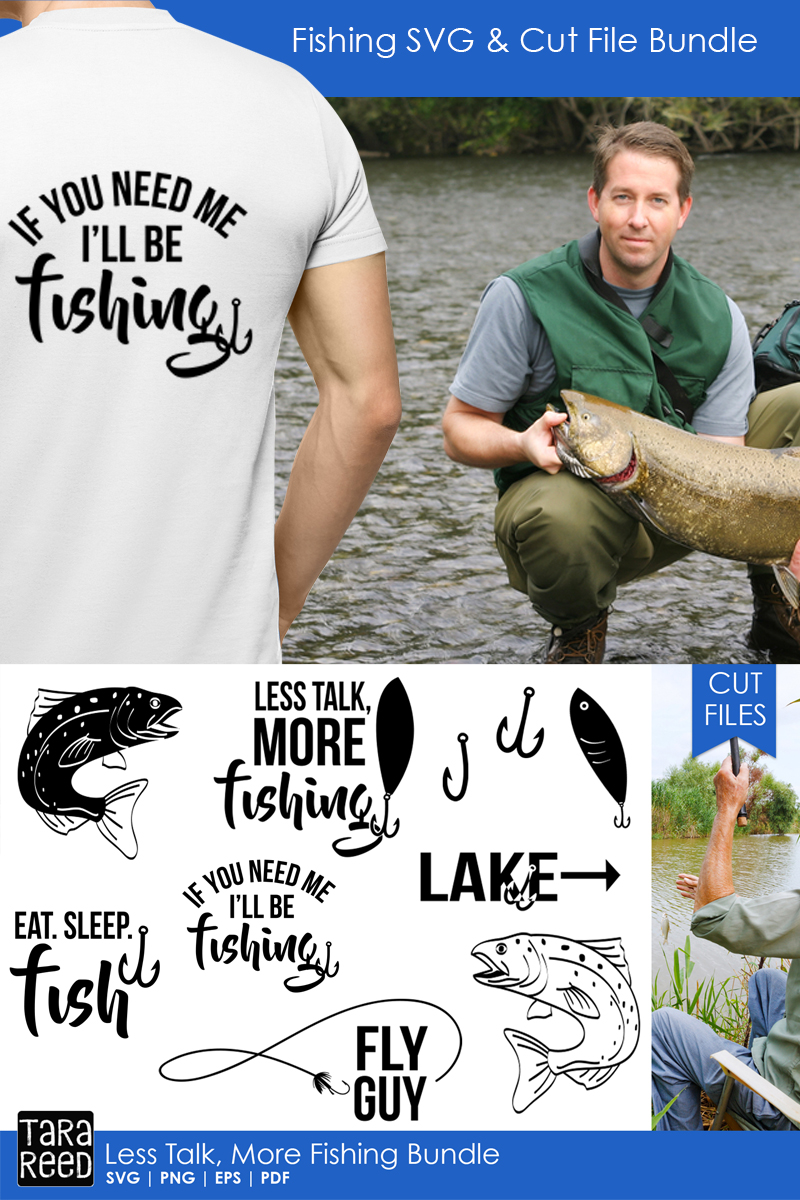 Less Talk More Fishing - SVG and Cut Files for Crafters example image 2