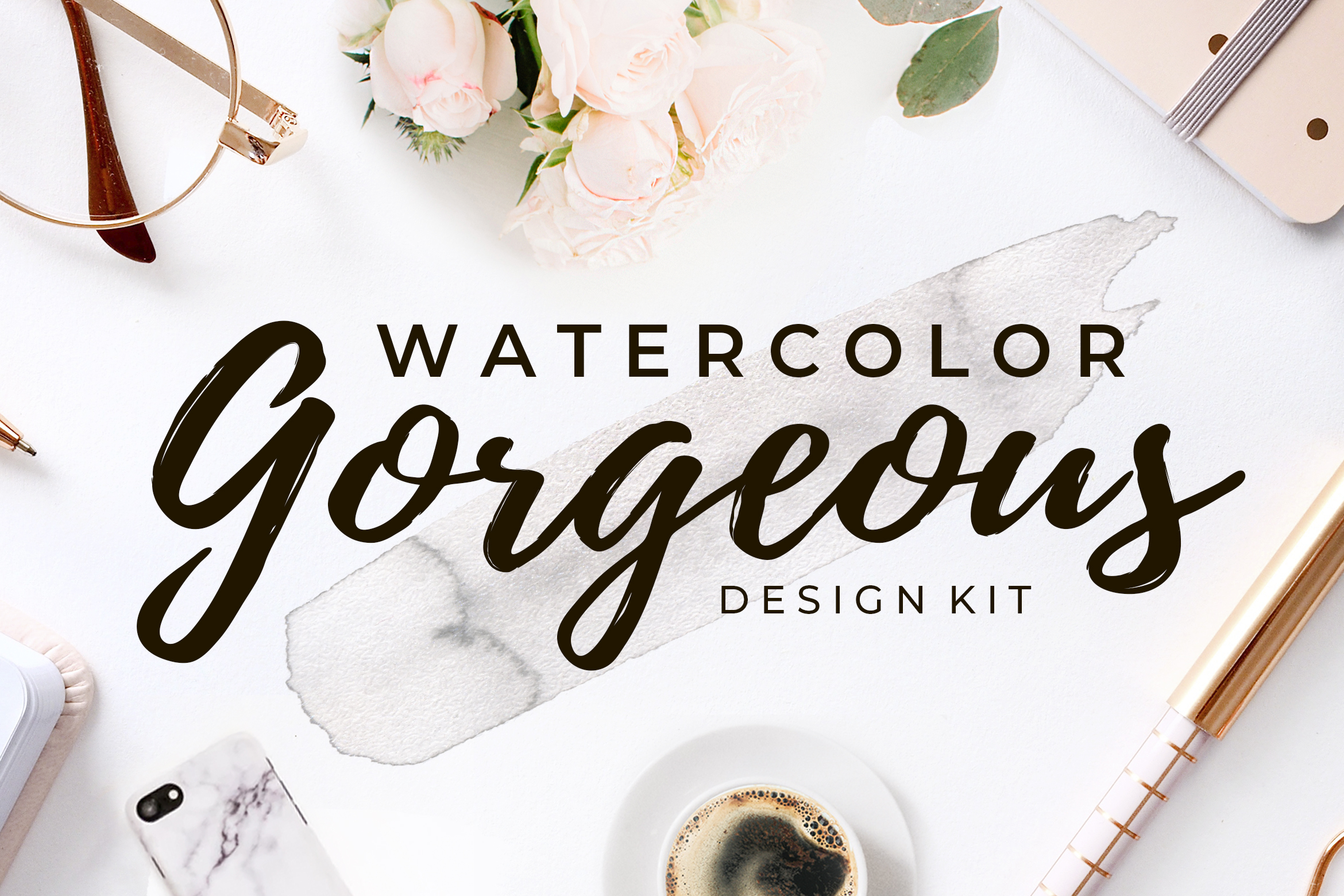 Gorgeous Watercolor Design Kit example image 1
