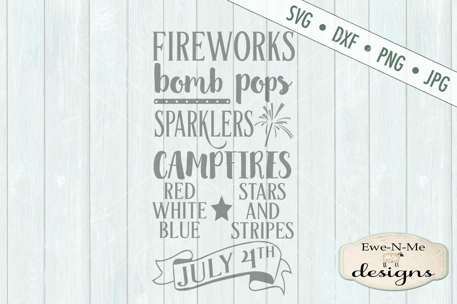 Fireworks Patriotic July 4th Subway Design SVG DXF Files example image 2