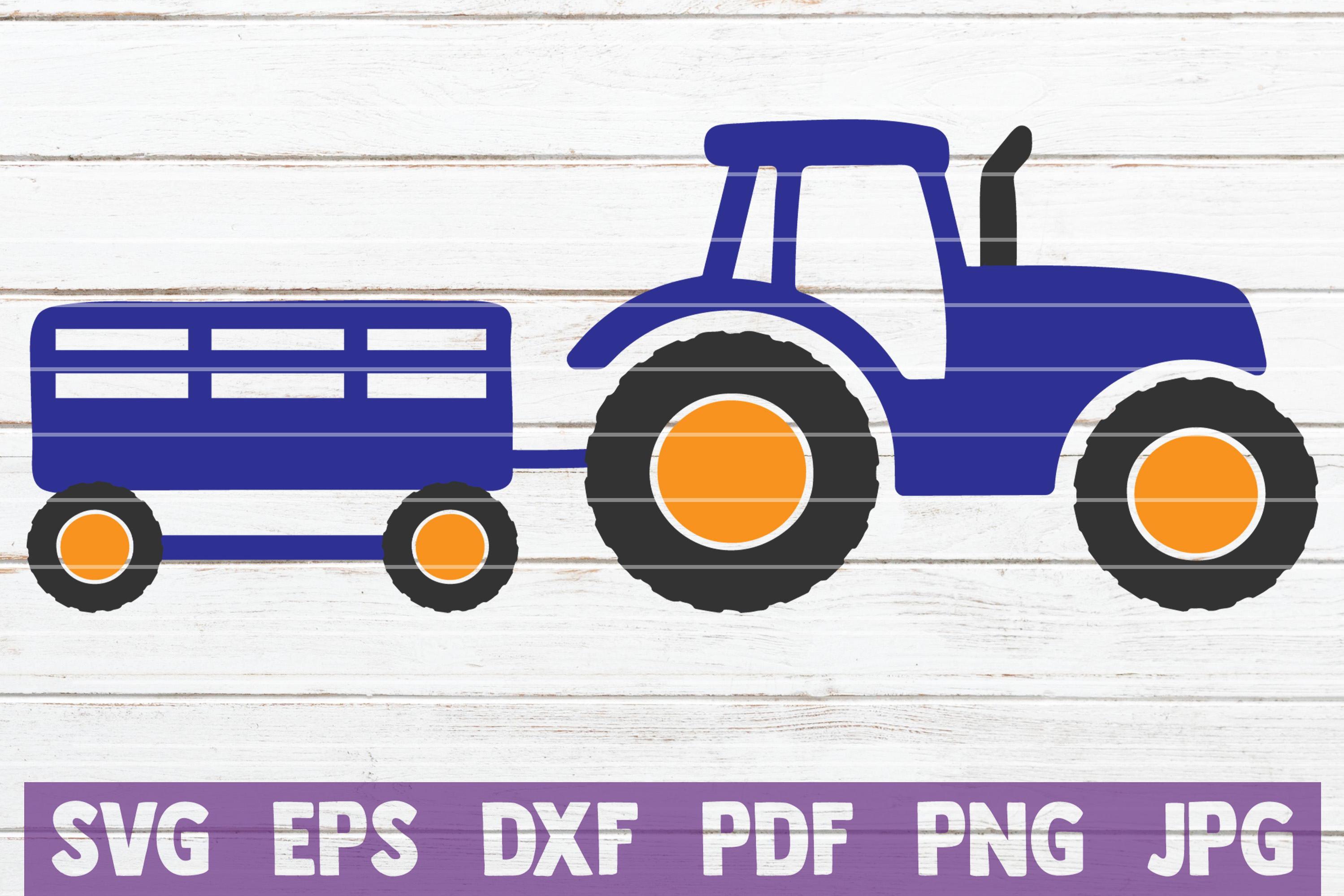 Tractor SVG Cut File | commercial use example image 1