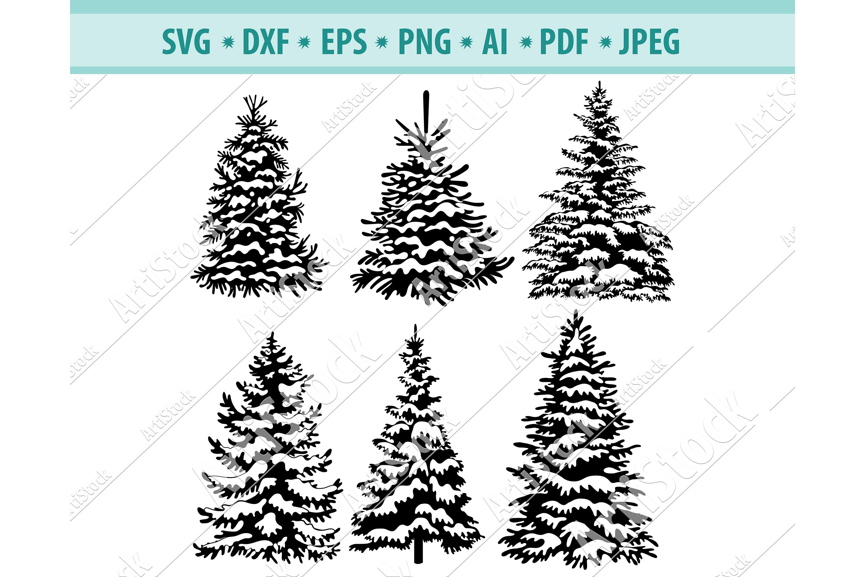Christmas Tree Svg, Christmas design svg, Christmas Png, Dxf example image 1